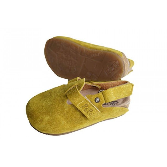 PèPè muiltje voor meisjes in geel suède