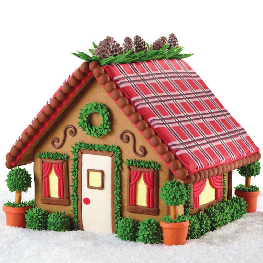 Mad For Plaid Mini Mansion Gingerbread House Cake And