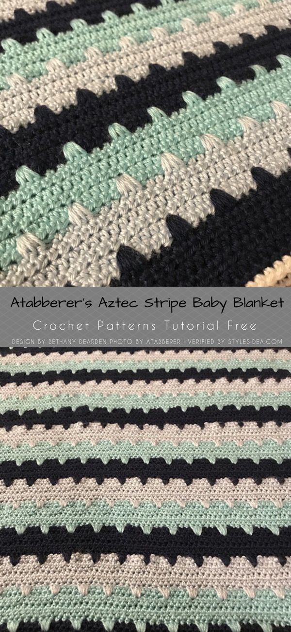 Aztec Stripes Square Afghan CAL Crochet Pattern Free   Styles Idea ...