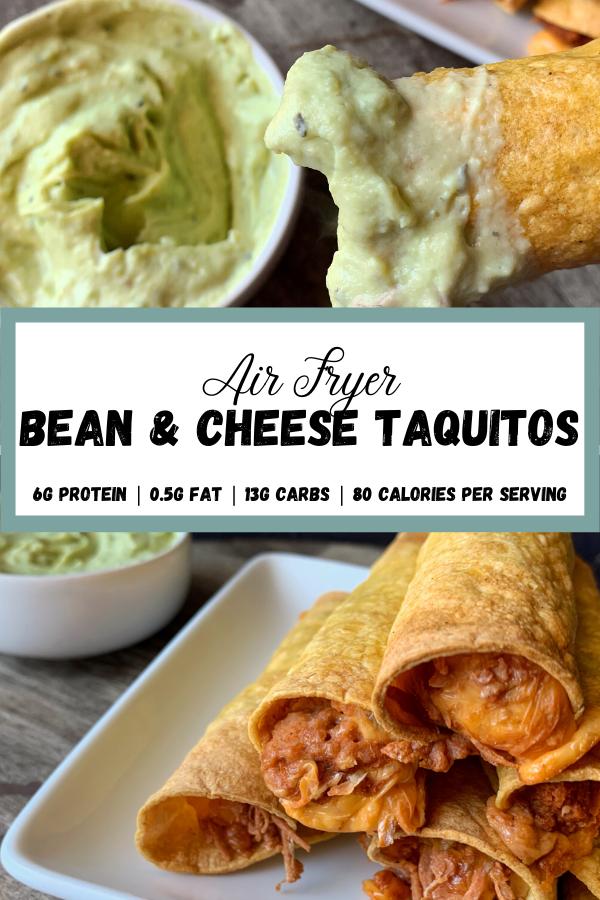 Air Fryer Bean & Cheese Taquitos in 2020 Healty food