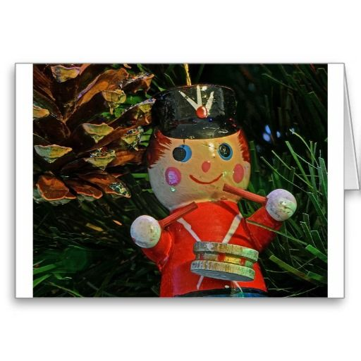 SOLD! Little Drummer Boy Ornament Greeting Card ~