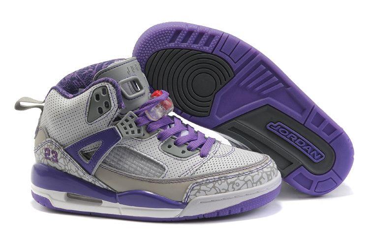 Nike Jordan Spizike Women Shoes 09 White Grey Purple Super Deals