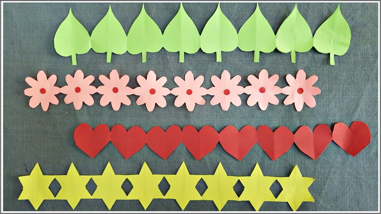 Easy Decorative Paper Chain Ideas Diy Paper Cutting Decorations