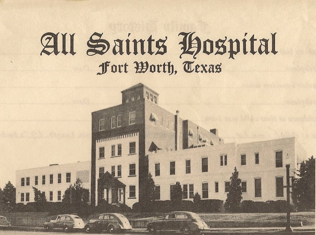 All saints hospital in fort worth fort worth texas old