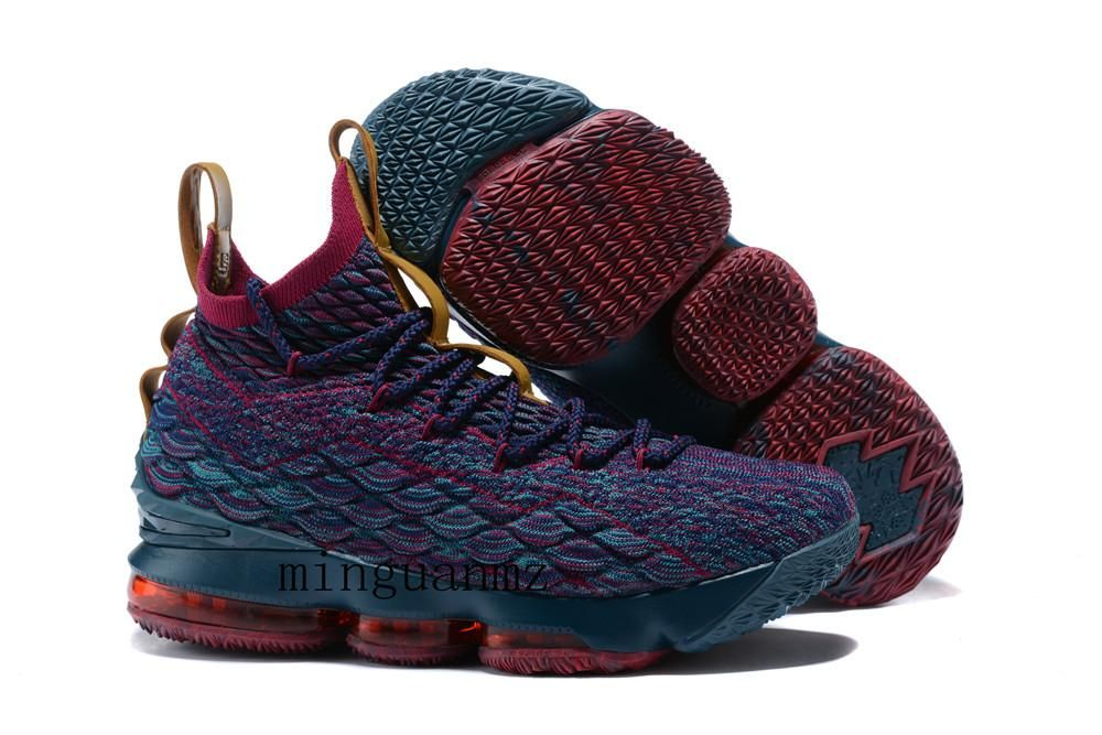 70ffbc09974 2018 Lebron 15 Crimson Lebron 15 Fruity Pebbles Basketball Shoes James 15  Size Us7 Us12 Whith Box Men Running Shoes Sports Shoes From Minguanmz
