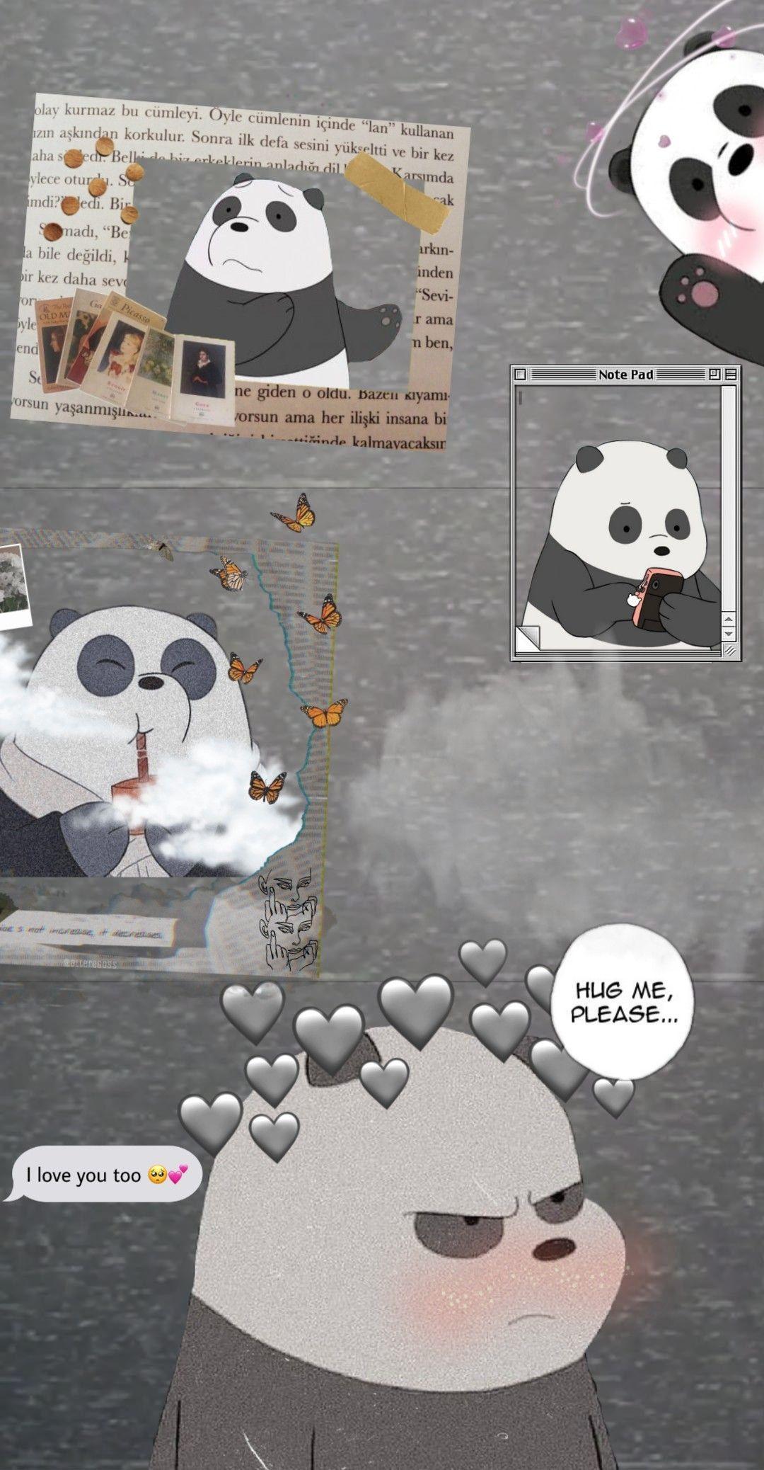 Webarebears Panda Aesthetic Wallpaper Kartu Lucu Ilustrasi Poster Ilustrasi Buku