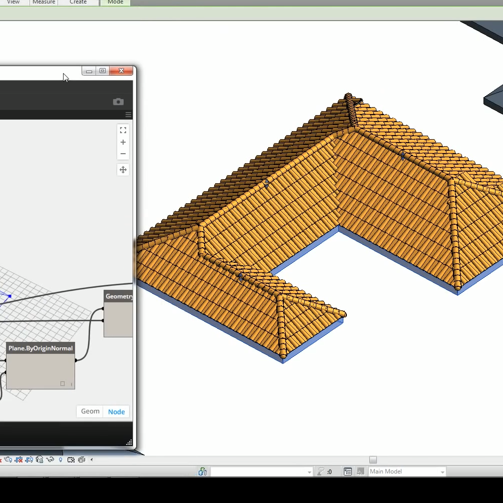 Dynamo Spanish Roof Tile Generator
