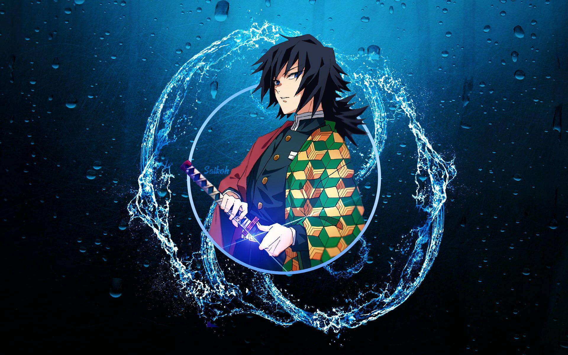 Giyu Tomioka Kimetsu No Yaiba Kimetsu No Yaiba Water Katana Anime Boys 1080p Wallpaper Hdwallpaper De In 2021 1080p Anime Wallpaper Anime Desktop Wallpaper Art