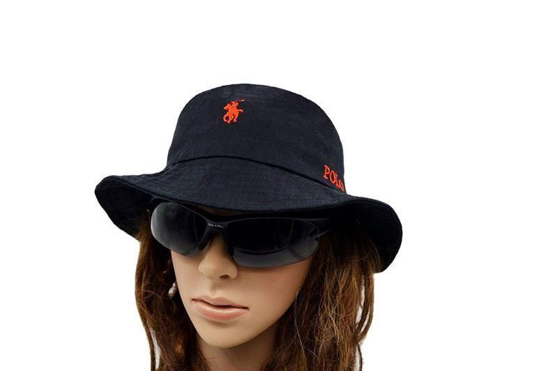 Men's / Women's Polo Ralph Lauren Big Pony Logo Embroidery Signature Logo Fisherman Bucket Hat - Red / Black