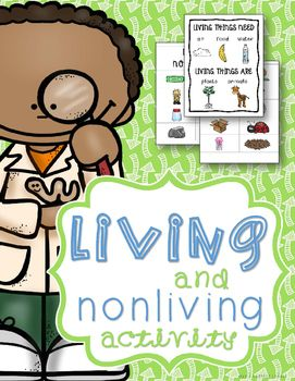 "This FREE living and non-living things packet is a simple but wonderful tool for sorting practice, creative expression, community learning, or a science center! Simply cut out the labels and pictures and allow students to sort the cards. The included poster is a convenient reference guide for students who are not as familiar with the concept of ""living"" and ""nonliving."" One ""Living Things"" poster, two ""Living"" and ""Nonliving"" labels, and 18 picture cards are included in this free packet.I..."