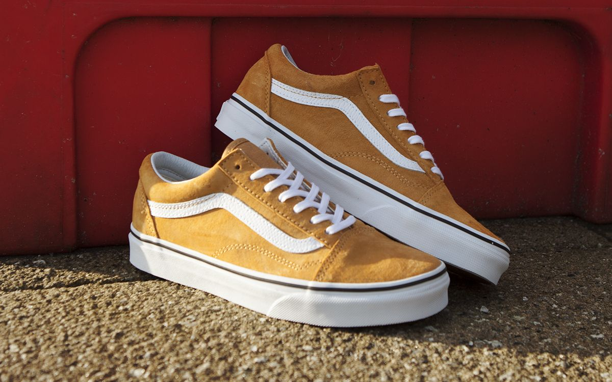 These Yellow Old Skool Vans Ought To Brighten Up Your Day Yellow Vans Sneakers Shoes