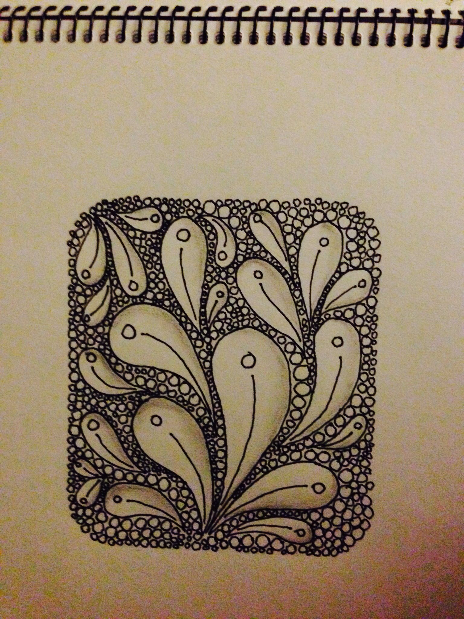 My first attempts at zentangle