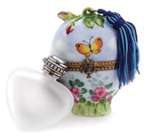 Heart Perfume Bottle/Butterfly Tassel Box