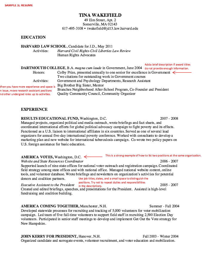 in post this time we will give a example about sample of law school resume sample that will give you ideas and provide a reference for your own resume