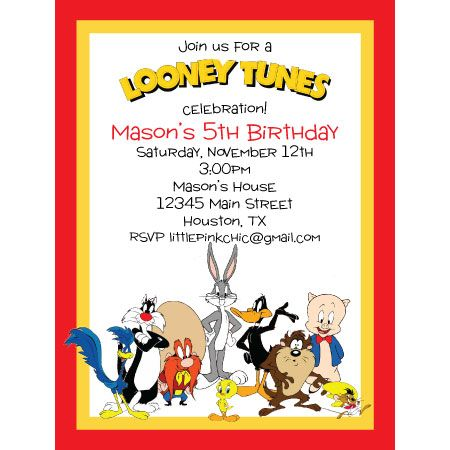LooneyToonsjpg 450450 pixels Party ideas Pinterest Looney