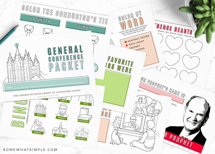 free general conference activity packet for kids  general