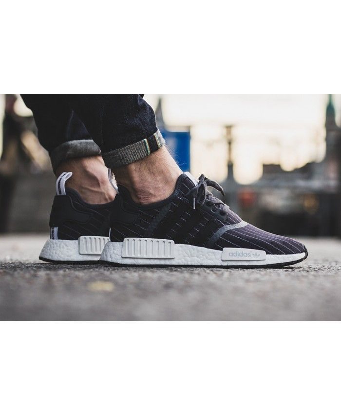 UK Store Cheap Sale Adidas NMD R1 Black On Feet fdbbb0d947db