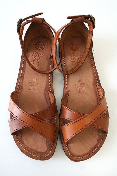42e757c04acdb9 Brown sandals simple and cute