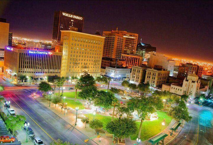 Beautiful El Paso Texas Southwest Travel City Landscape Downtown El Paso