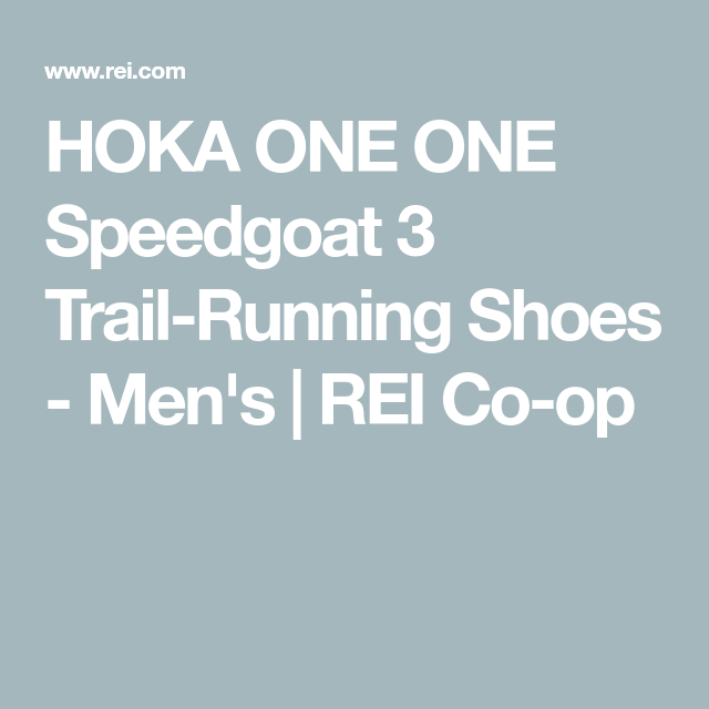 ONE Speedgoat 3 Trail-Running Shoes