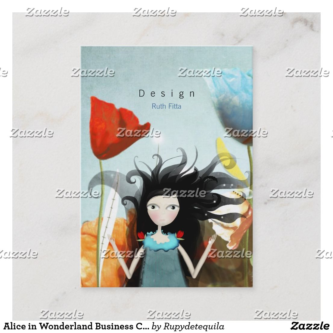 Alice In Wonderland Business Cards RUPYDETEQUILA Ruth Fitta Schulz Well Handmade Illustrations And Design For Awesome People Zazzle Artsprojekt Poppy