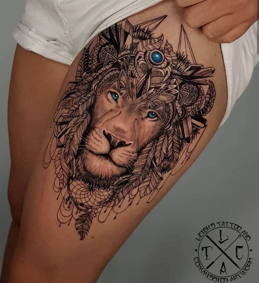 tatouage sur la cuisse   tattoo   tattoos, trendy tattoos et theigh