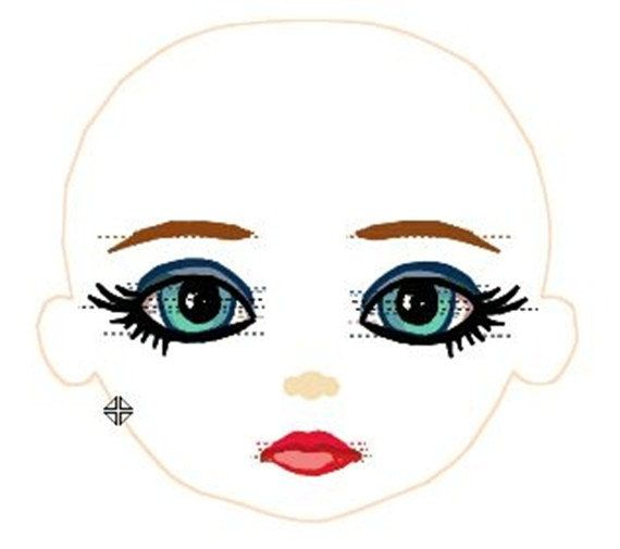 Beautiful Machine Embroidered Jilly Face Design By
