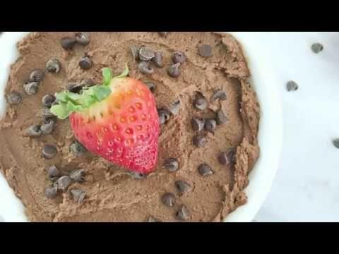 Chocolate Peanut Butter Dessert Hummus #desserthummus