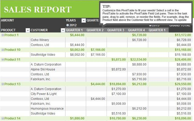 Sales Report Template in Excel - Free Download - XLSX Temp Excel - what are general report templates