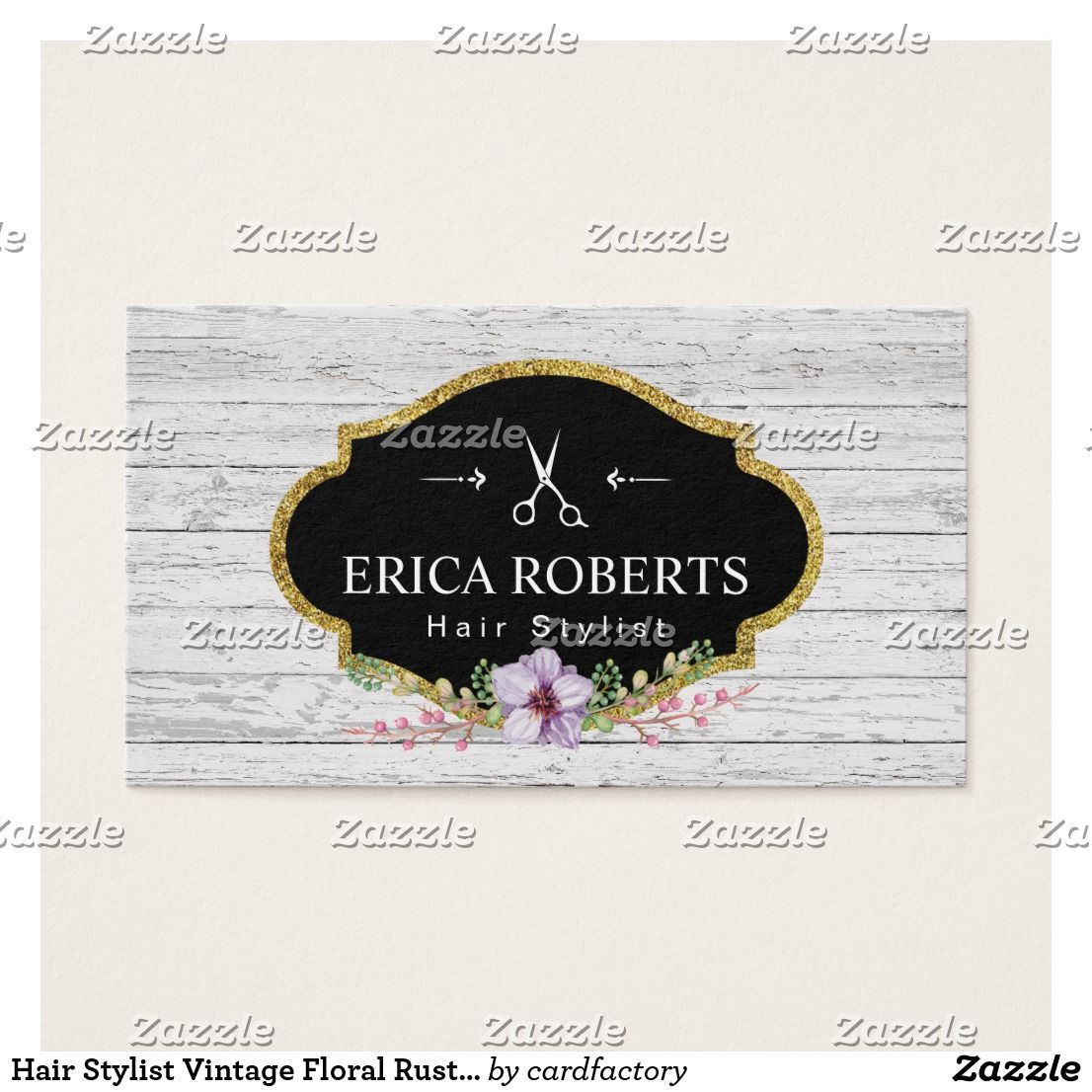 Hair stylist vintage floral rustic wood business card reheart Image collections
