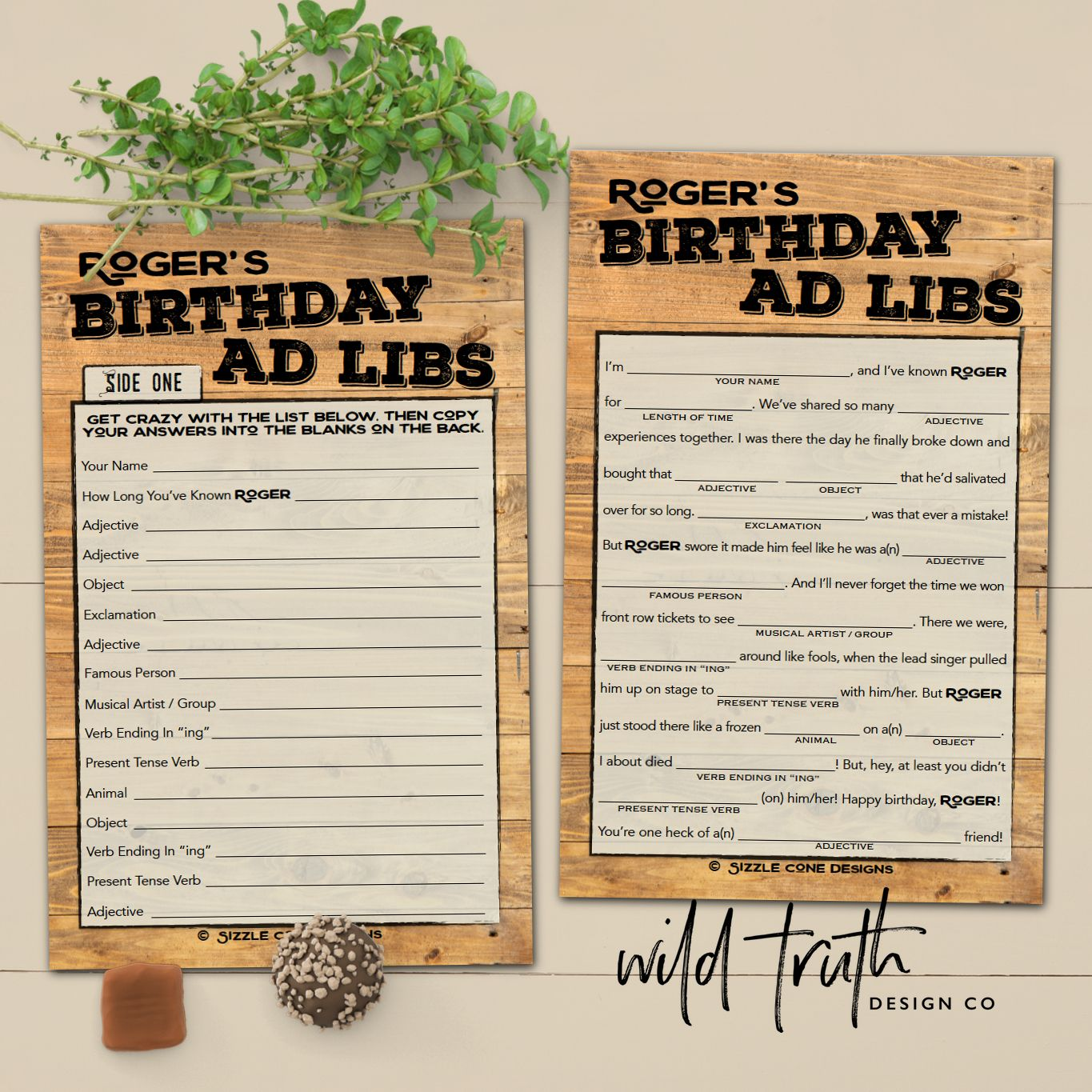 Birthday Mad Libs For Adults Printable
