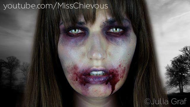 ZOMBIE Halloween Look - Makeup tutorial on my website! www.MissChievous.tv