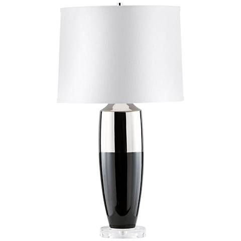 Nova Splash Gloss Black Canister Acrylic Table Lamp 11j37 Lamps Plus Lamp Table Lamp Lamps Plus