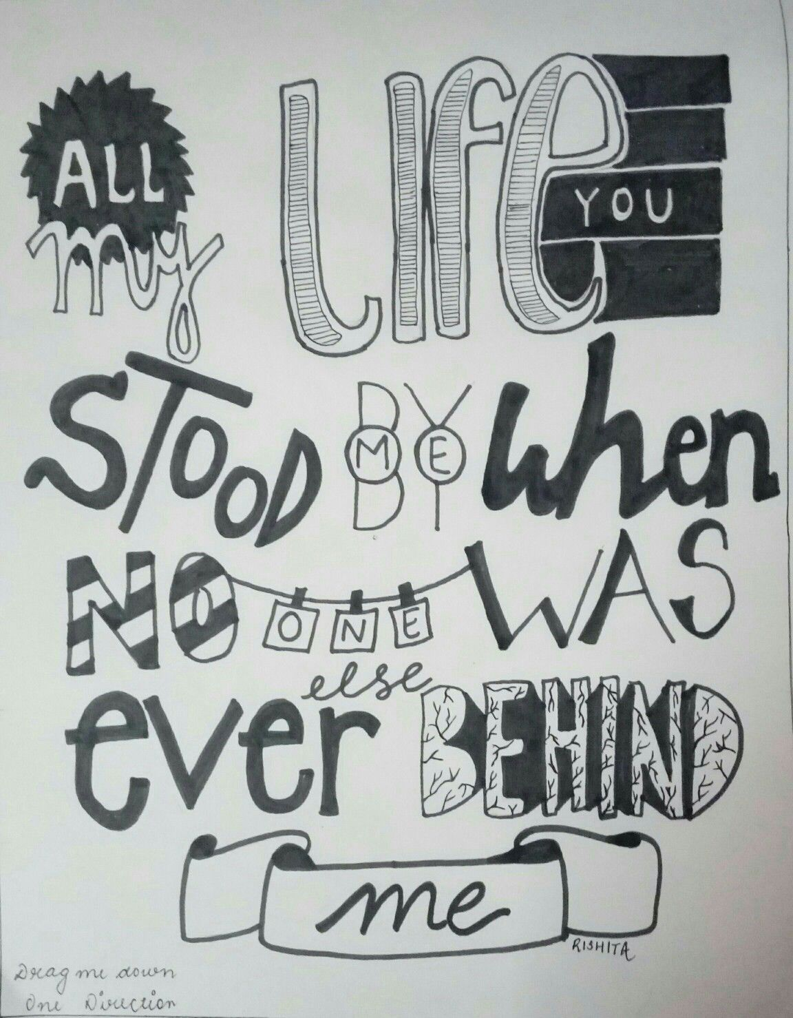 One Direction - Story of my life. | One direction drawings ...