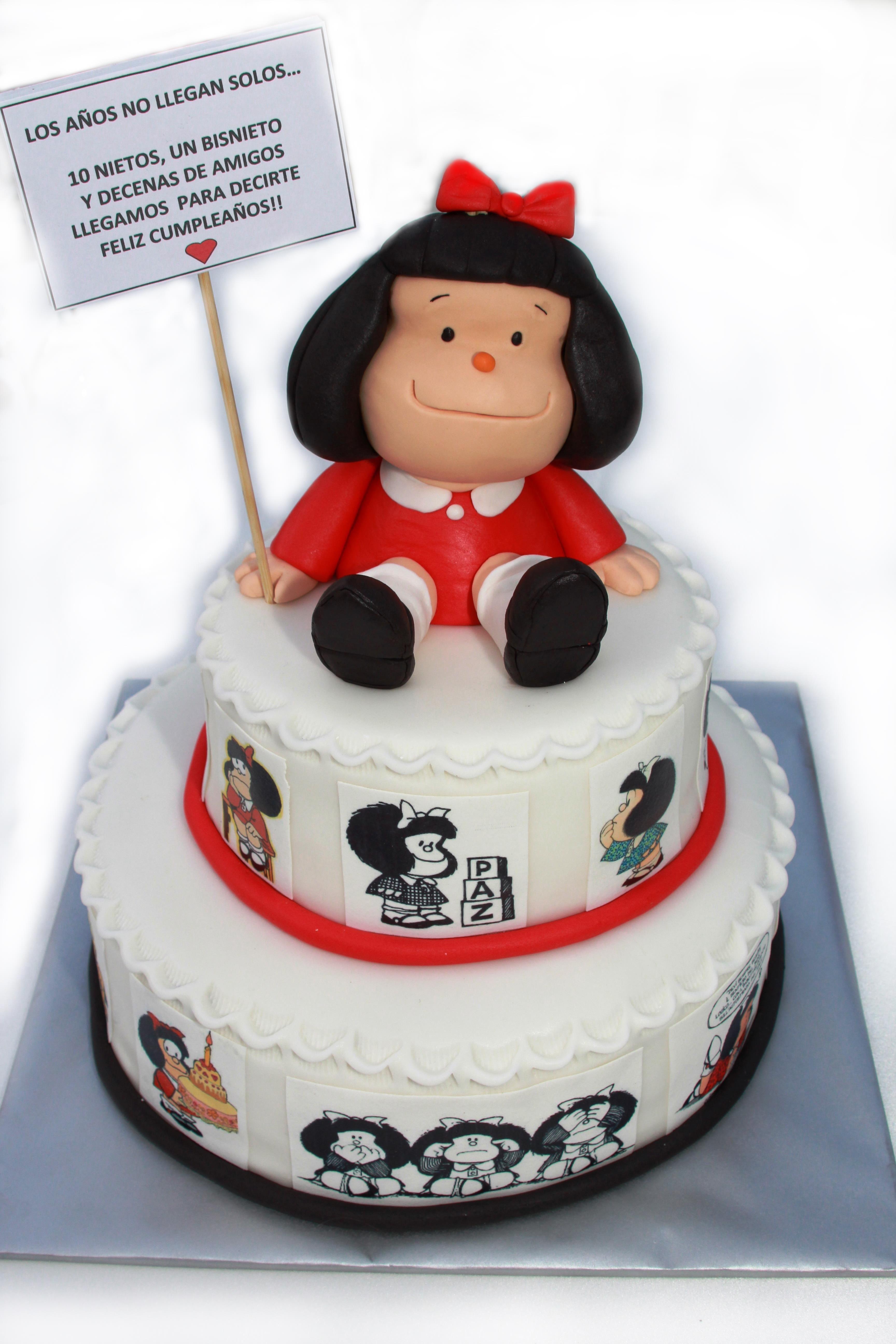 Mafalda cake for my father 80th birthday my cakes Pinterest