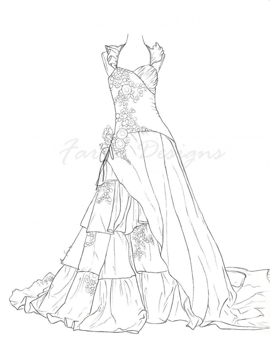 vintage fashion coloring pages - Google Search | Wedding ...