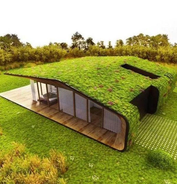 35 Modern Green Roof Designs For Sustainable House Home Design And Interior In 2020 Container House Design Green Roof Design Container House