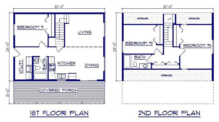 Bernard Building Center Chalet 24x52 House Plans Cabin Floor Plans Cottage Floor Plans