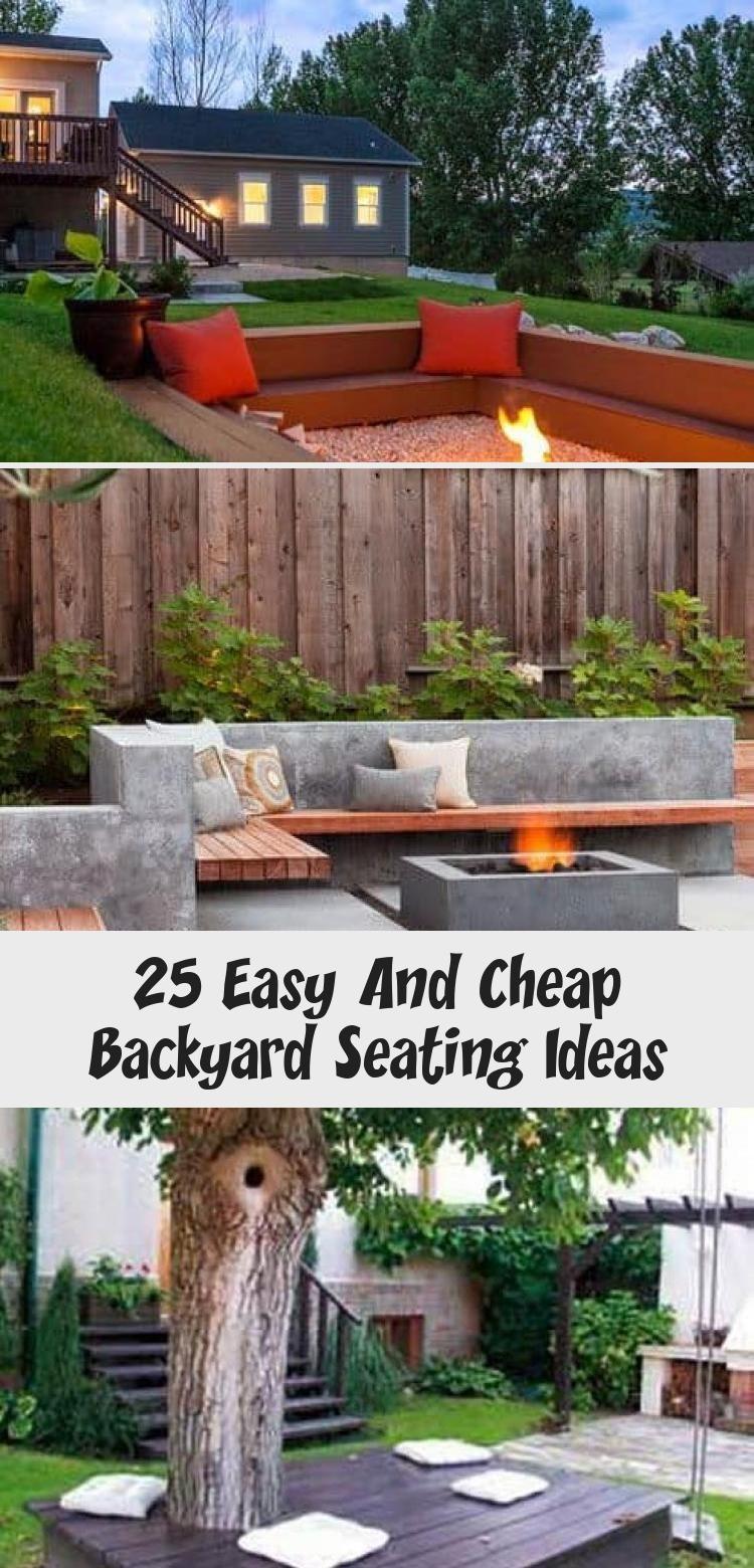 25 Easy And Cheap Backyard Seating Ideas In 2020 Backyard