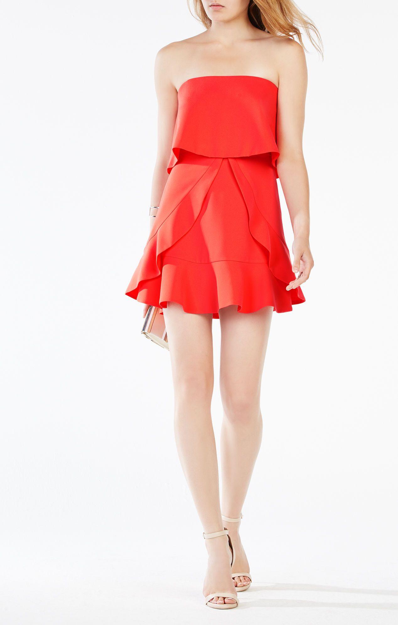 Charlot Strapless Ruffle Dress Strapless Ruffle Dress Red Cocktail Dress Red Ruffle Dress [ 1992 x 1268 Pixel ]