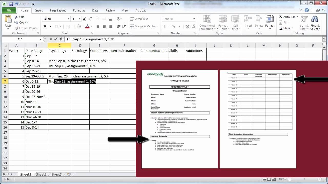 College Course Planning Template Best Of Create A Semester