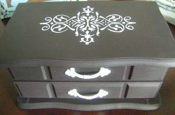 27+ Black and white jewelry box ideas