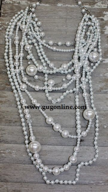 Multiple Strands of Pearl Necklace