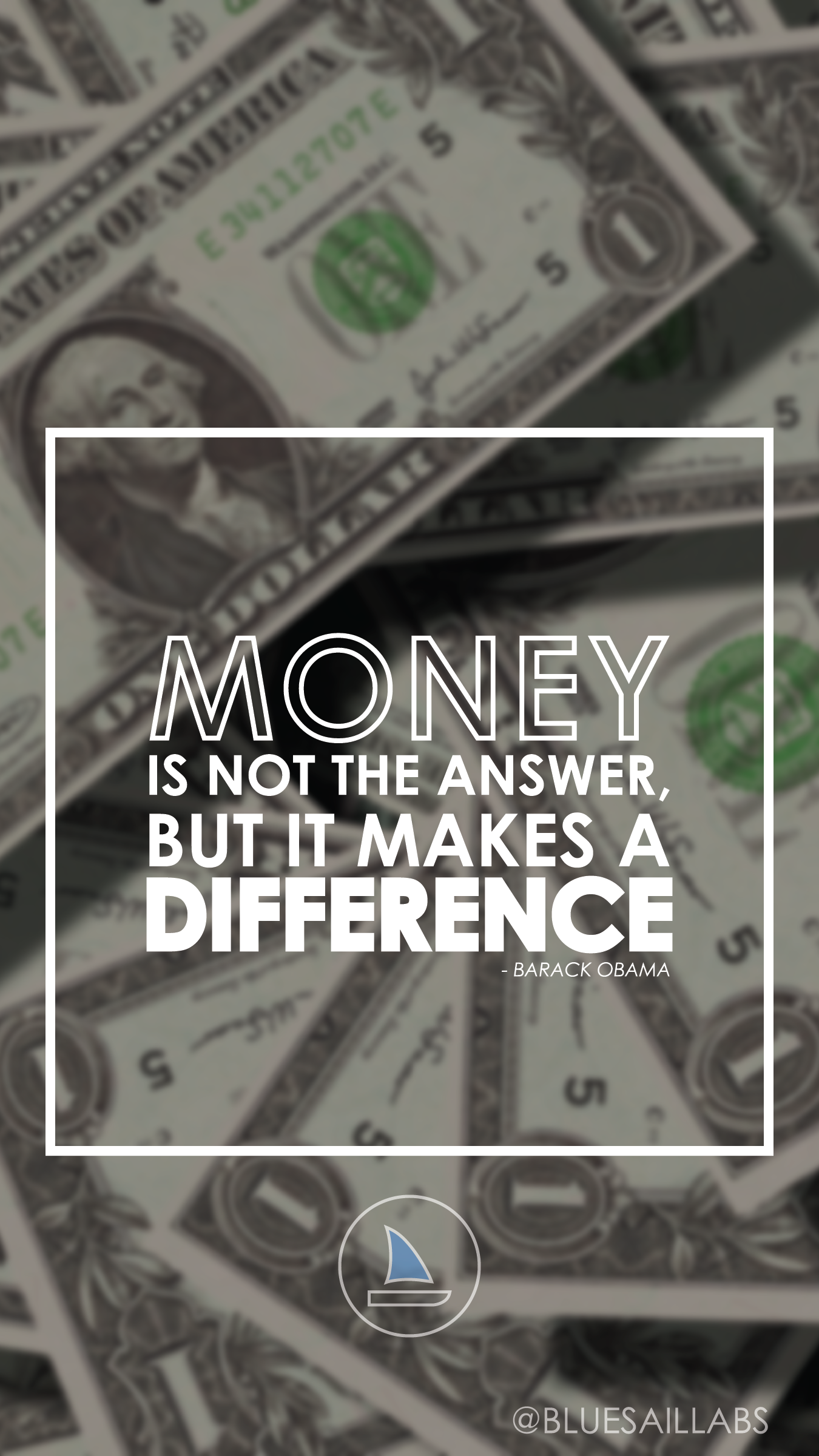 Money Is Not The Answer But It Makes A Difference