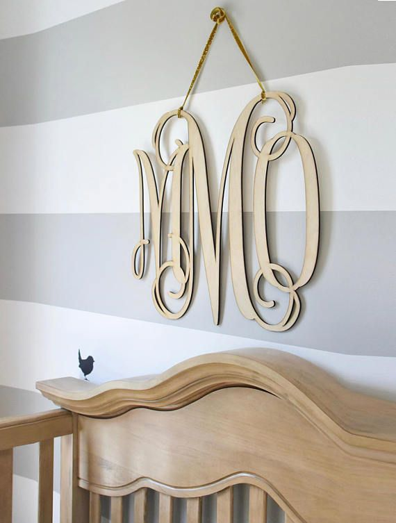 Painted Wooden Monogram Wall Hanging