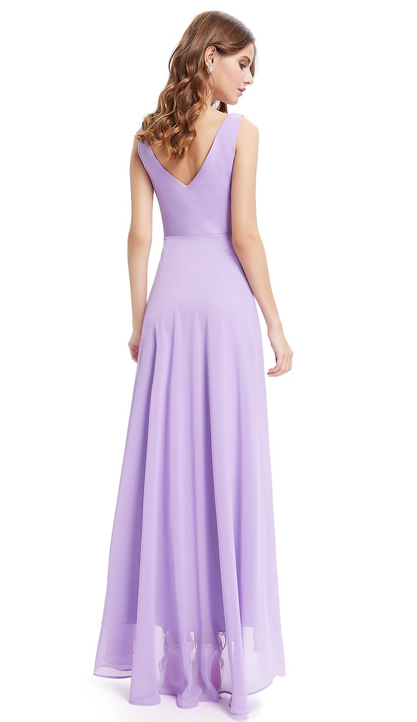283d843ec902 Ever-Pretty Womens Sexy Deep V-Neck Long Maxi High-Low Formal Evening  Bridesmaid Party Prom Dance Dresses for Women 09983 Burgundy US 4#Maxi,  #Long, #Formal