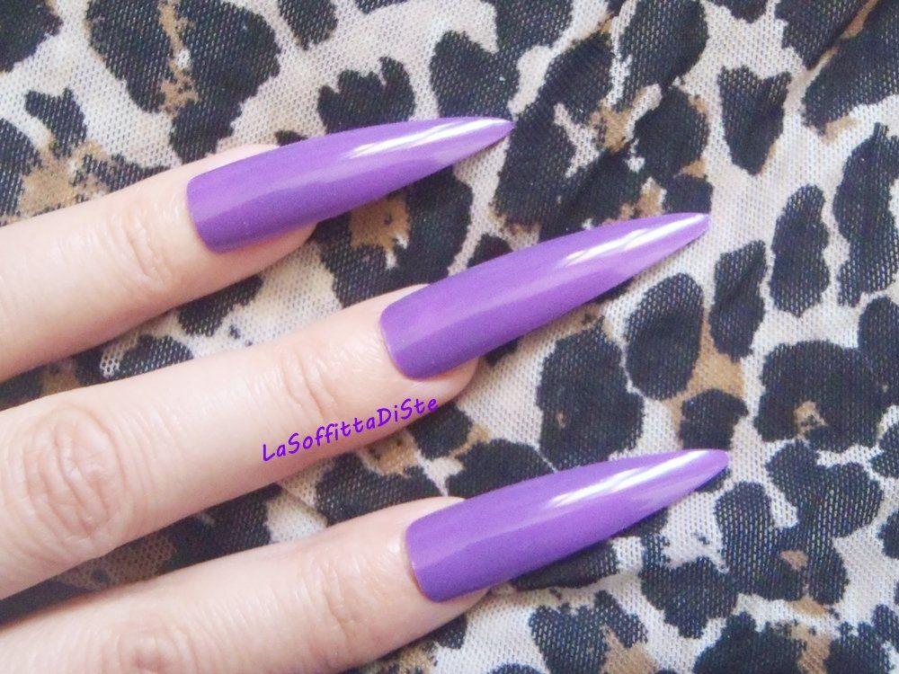 Long 20 purple fake nails long nails false nails drag queen full ...