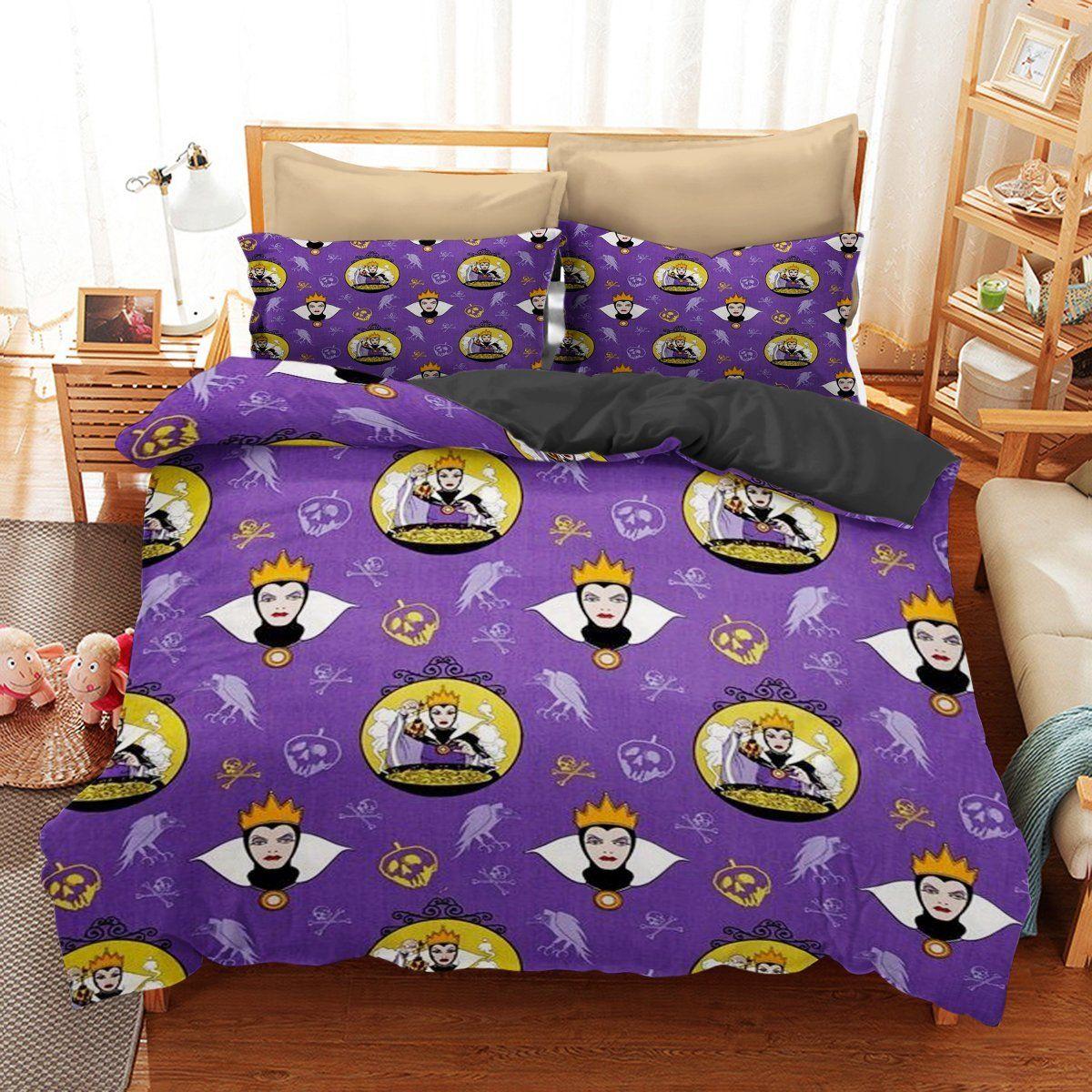 Bedding set villains funny gift idea