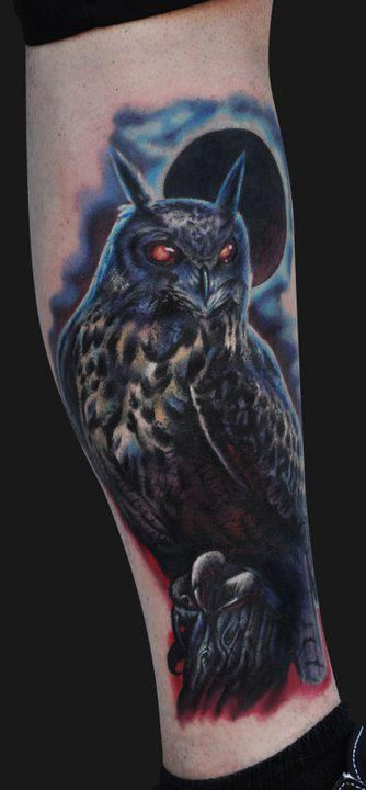 owl...dark enough for a cover up. nice.   Ink   Pinterest ...