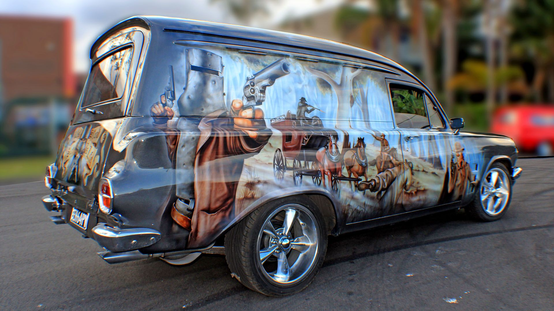Image result for wolf airbrush car Car painting